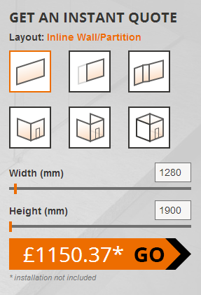 Glass Partitions Calculator