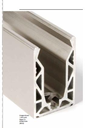 Axis Glass Eazy Fix Frameless Balustrade Rail  - per meter
