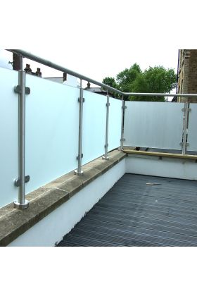 Obscure Balcony Glass Frosted Acid Etched Sandblasted Glass Balustrade