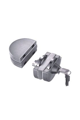 Clamp on HD-240 SLIDING Glass Door Lock - NO HOLES REQUIRED
