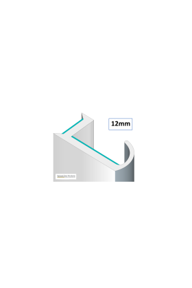 (12mm) 190° Dry Joint for Glass Partitioning  for 12mm glass (10 pieces)