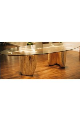 2200mm x 1200mm x 10mm Oval table top with bevelled edges and packaging