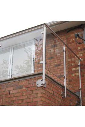 SIDE FIX Stainless Steel Balustrade Corner Post